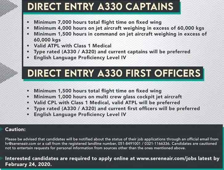 Serene-Air-Jobs-2020-Captains-&-First-Officers