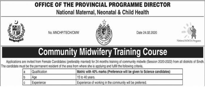 Sindh-Community-Midwifery-Training-Course-2020