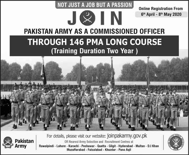 Join-Pak-Army-146-PMA-Long-Course-2020-Online-Registration-Date