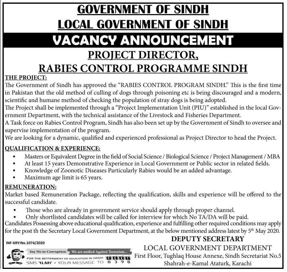 Sindh-Government-Jobs-2020-Project-Director