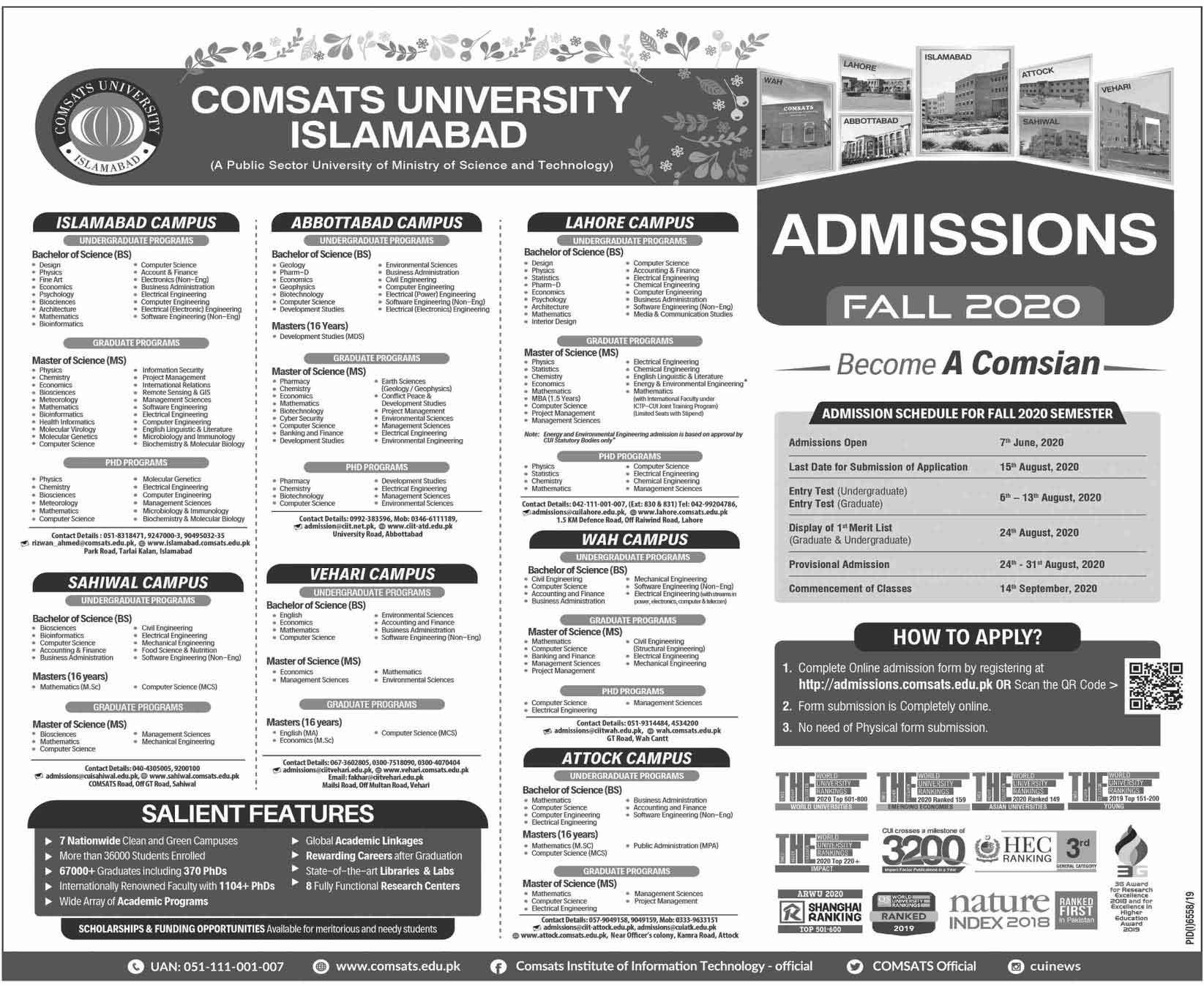 Comsats-University-Admission-2020