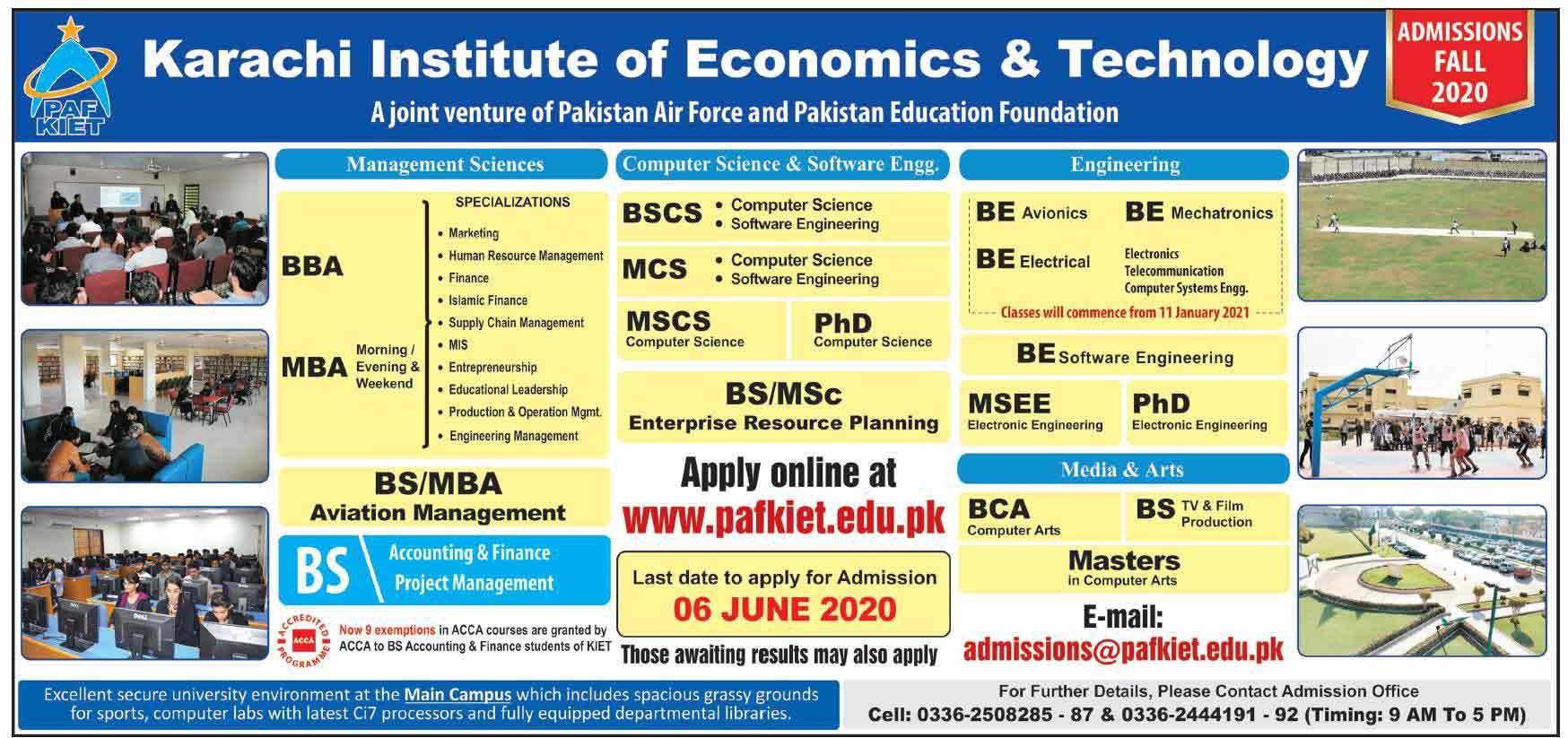 PAF-KIET-Admission-Karachi-2020-Last-Date