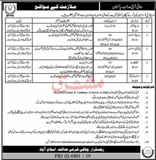 Federal-Shariat-Court-of-Pakistan-Jobs-2020