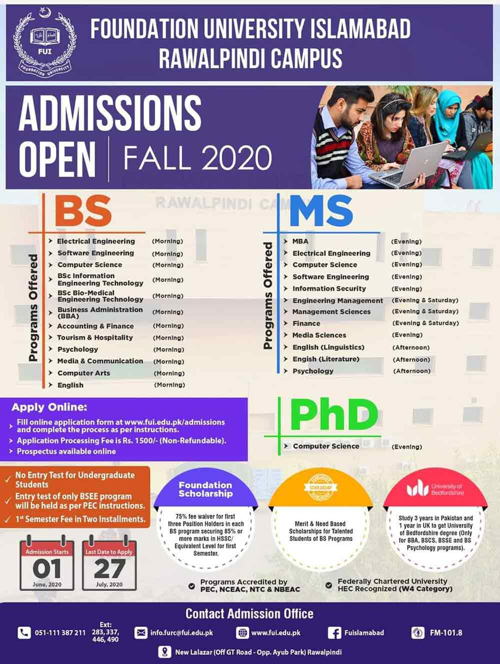 Foundation-University-Islamabad-Admissions-2020