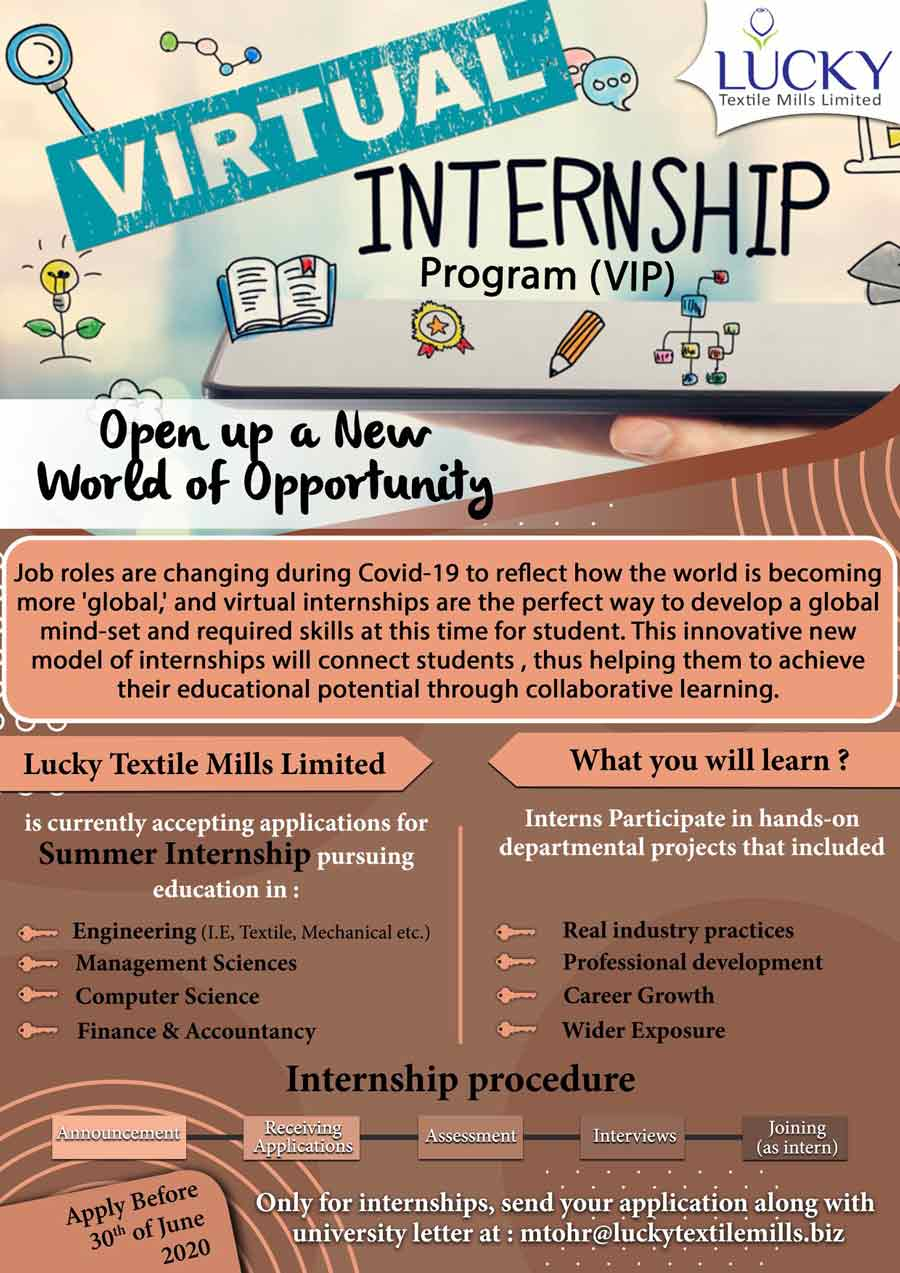 Lucky-Textile-Mills-Limited-Summer-Internship-Program-2020