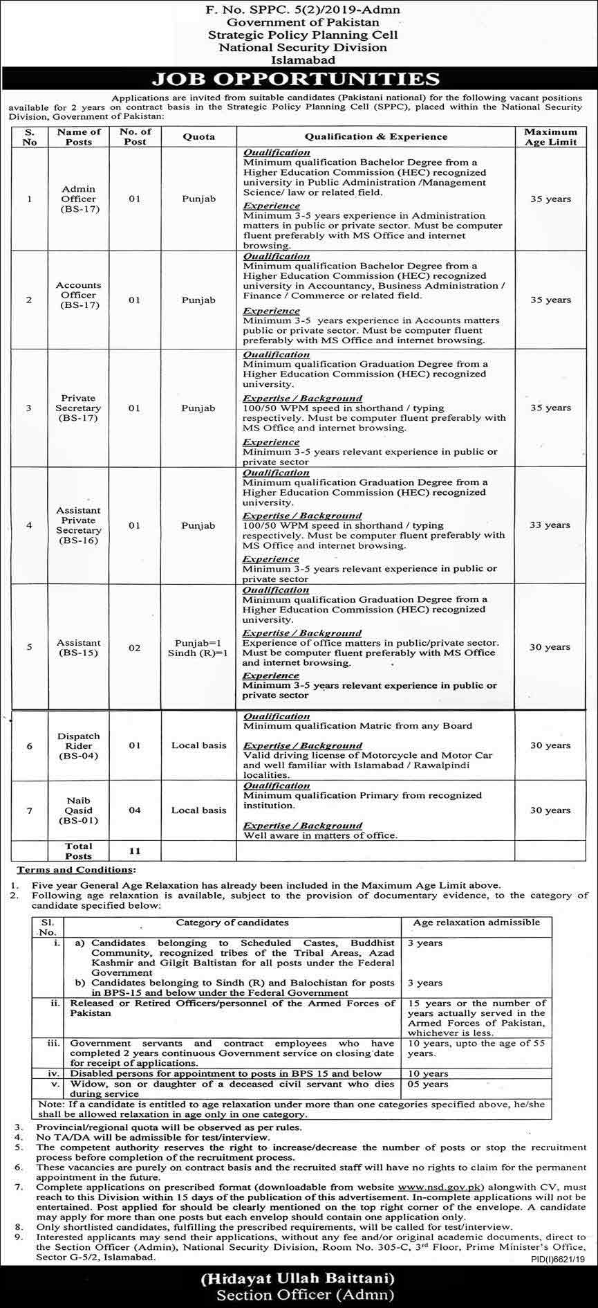 government-jobs-Islamabad-2020 Pakistan
