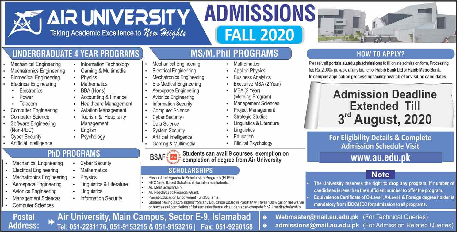 Air-University-Islamabad-Admission-Date-2020