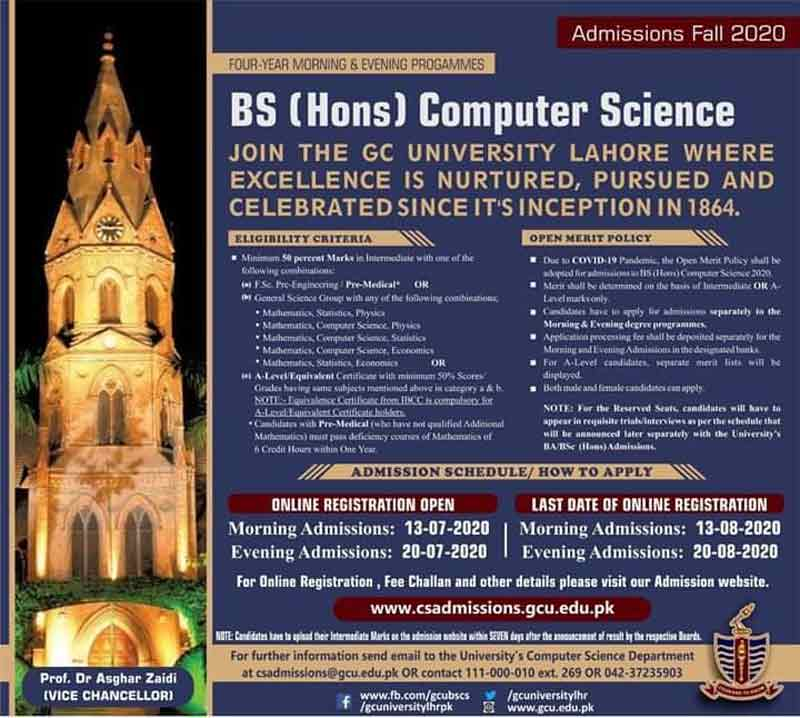 BS-Computer-Science-Admission-in-GCU-Lahore