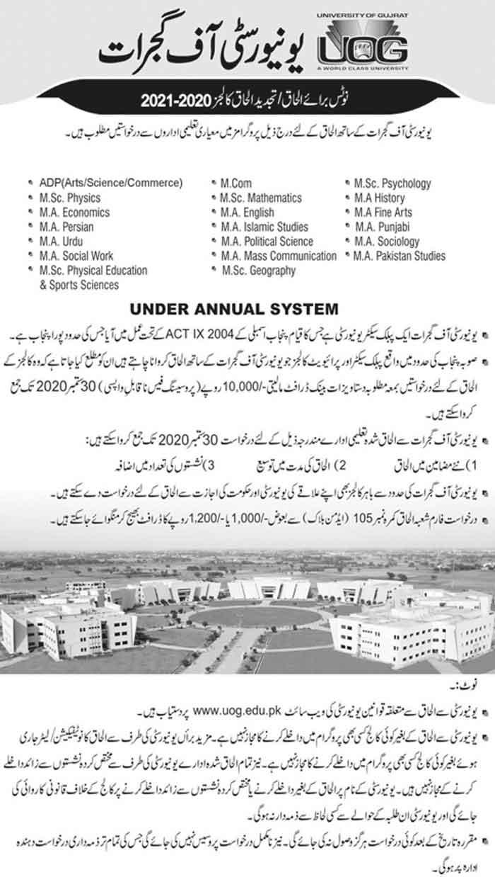 University-of-Gujrat-Admissions-2020