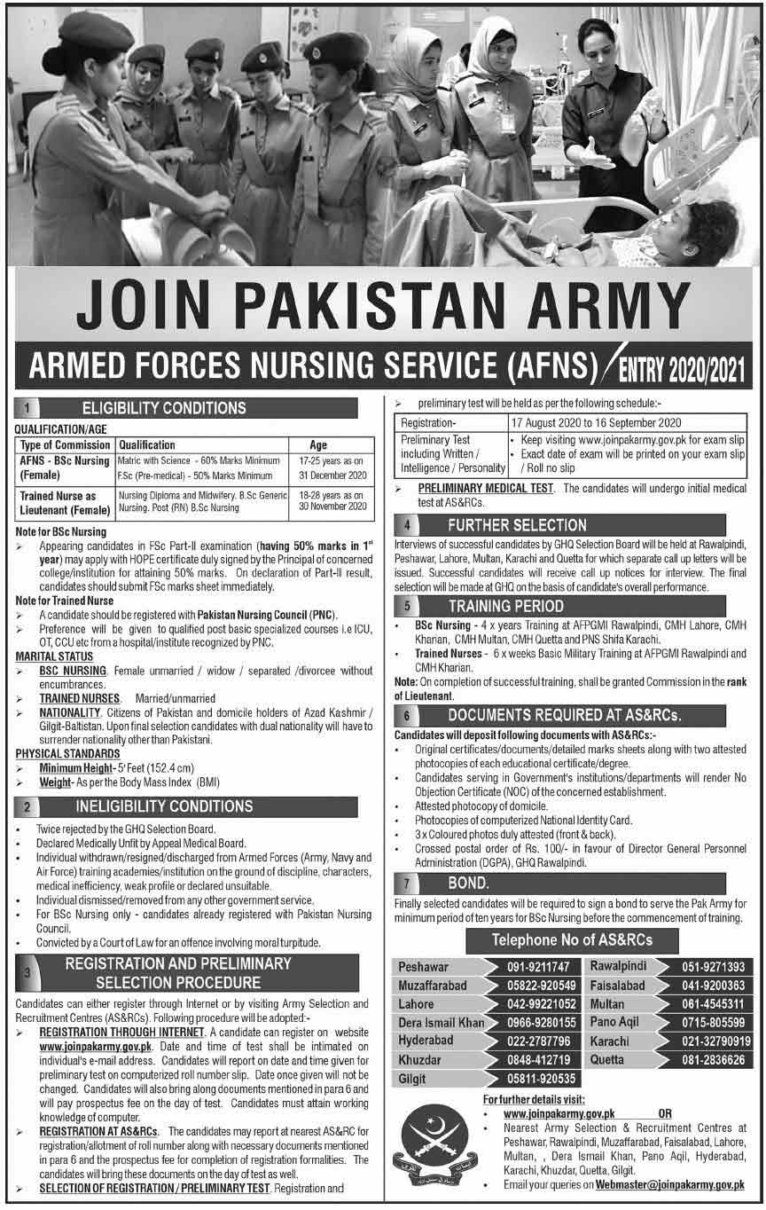 AFNS-Pakistan-Army-Jobs-for-Female-Nursing-Assistant