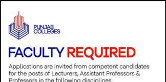 Punjab-College-Teaching-Jobs-2020