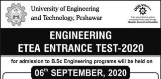 uet-Peshawar-entry-test-date-2020