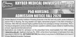 PhD-Nursing-Admissions-2020-Khyber-Medical-University