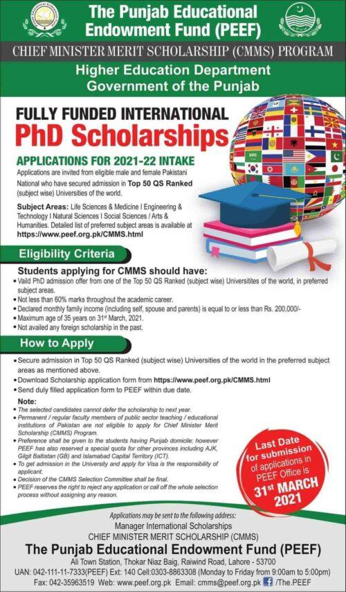PEEF-PhD-Scholarshp-2021