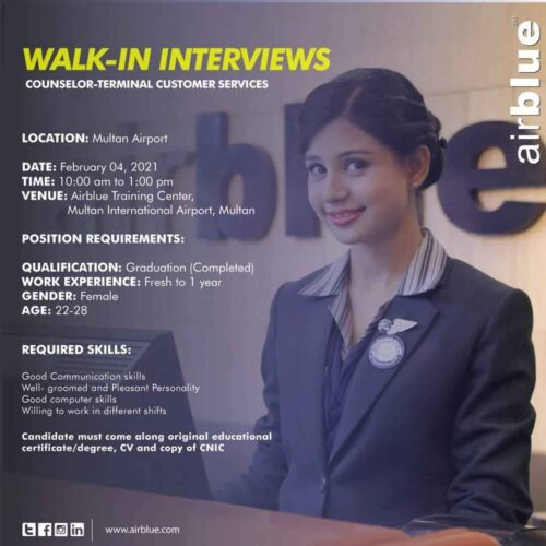 Airblue-Jobs-2021-Counselor-Customer-Service