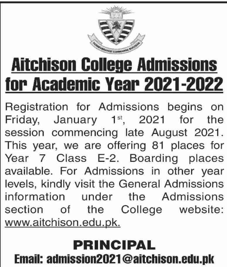 Aitchison-College-Lahore-Admission-2021