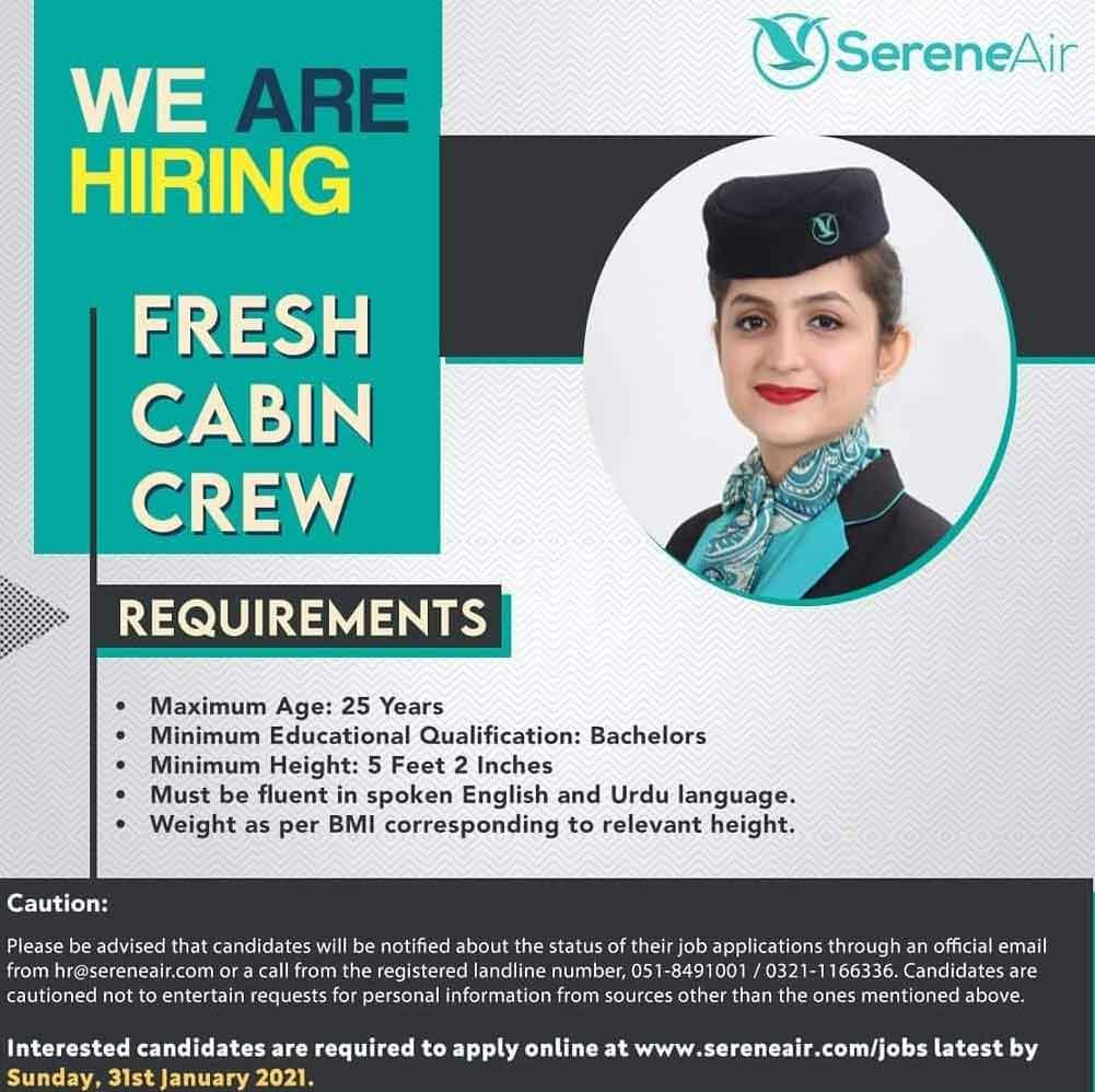 Join-Serene-Air-as-Female-Cabin-Crew-Jobs-2021