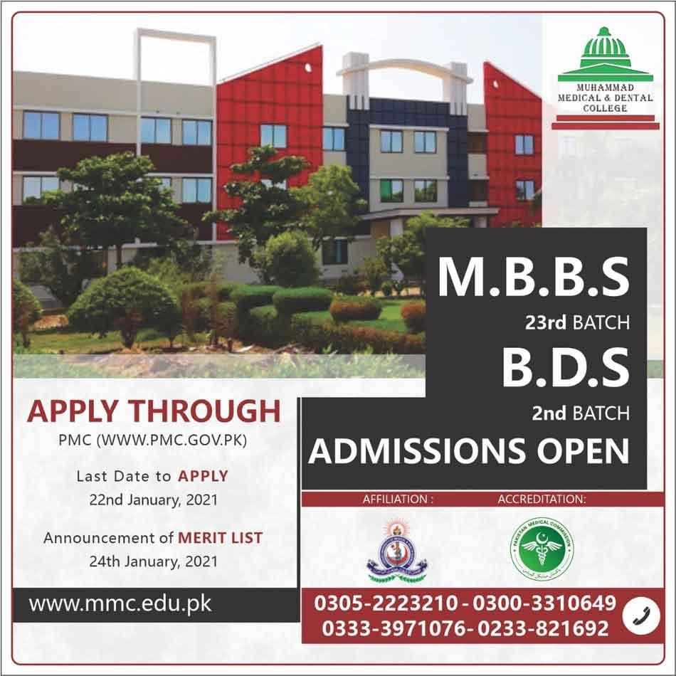 Muhammad-Medical-College-Admission-2021