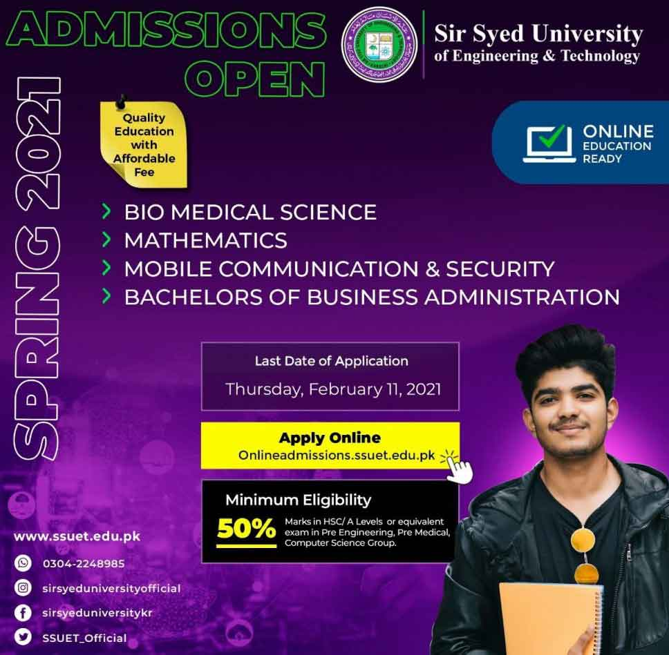 Sir-Syed-University-of-Engineering-Admission-2021