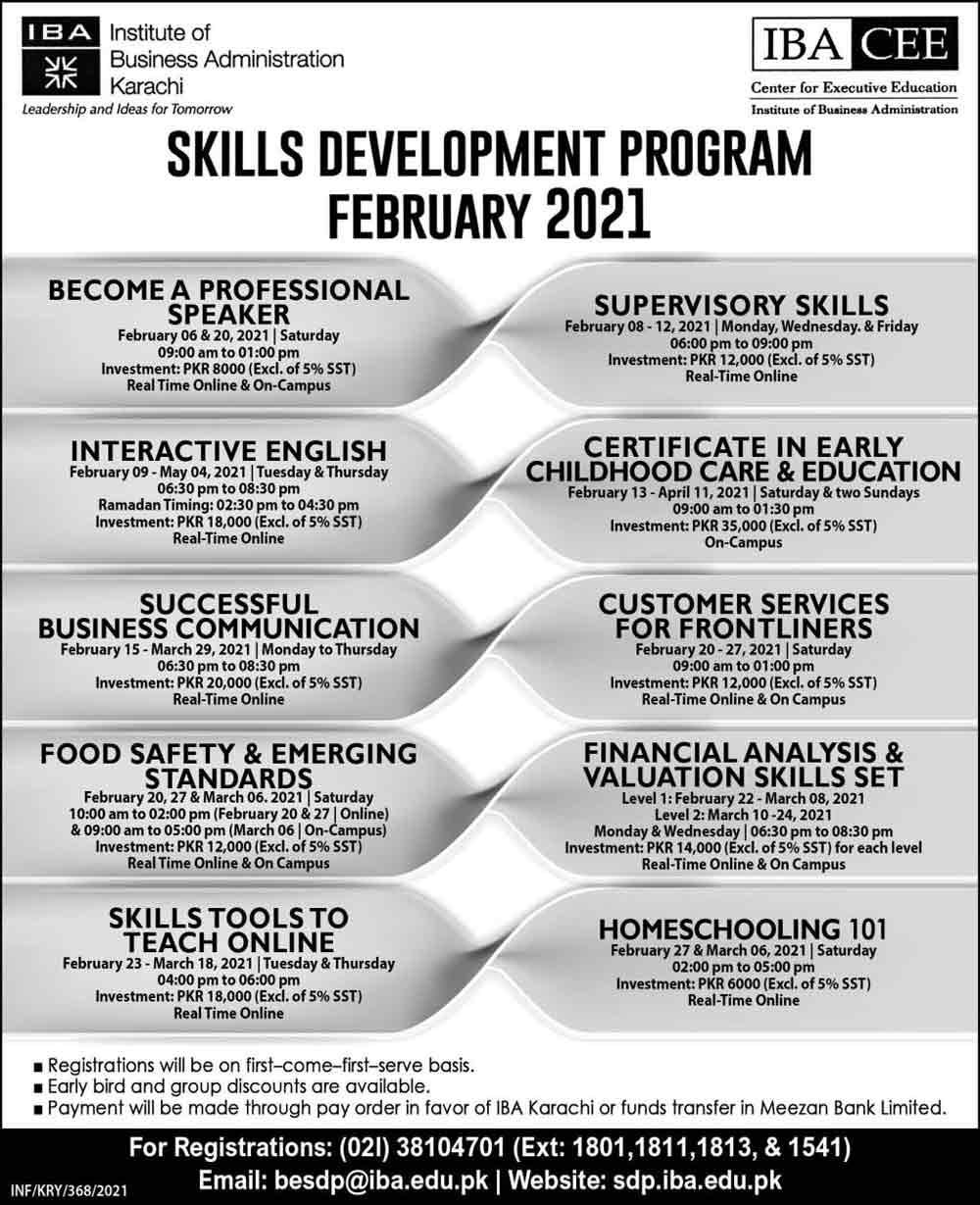 Skill-Development-Program-2021-IBA