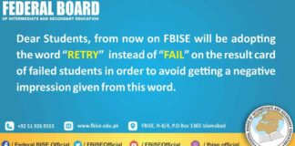 FBISE-Retry-for-Fail-students-2021