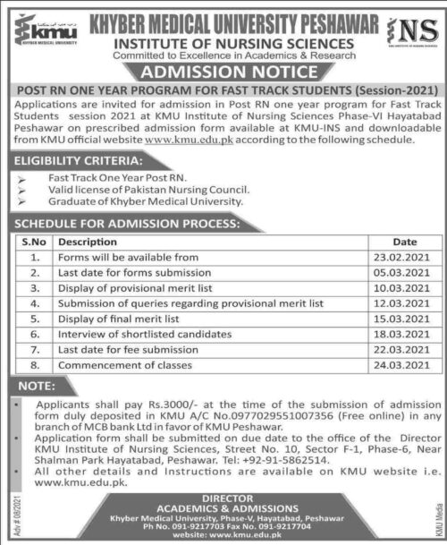 KMU-Post-RN-Admission-2021-Merit-List