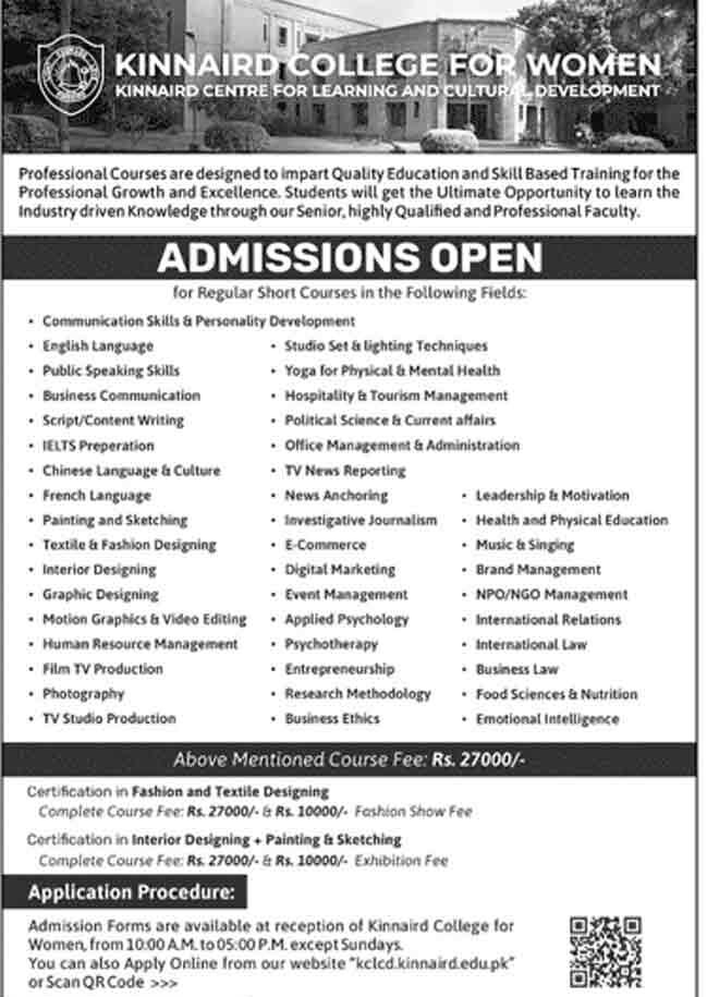 Kinnaird-College-for-Women-Lahore-Admission-2021