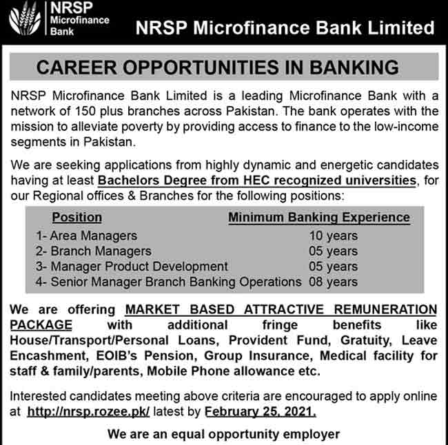NRSP-Microfinance-Bank-Limited-Jobs-2021