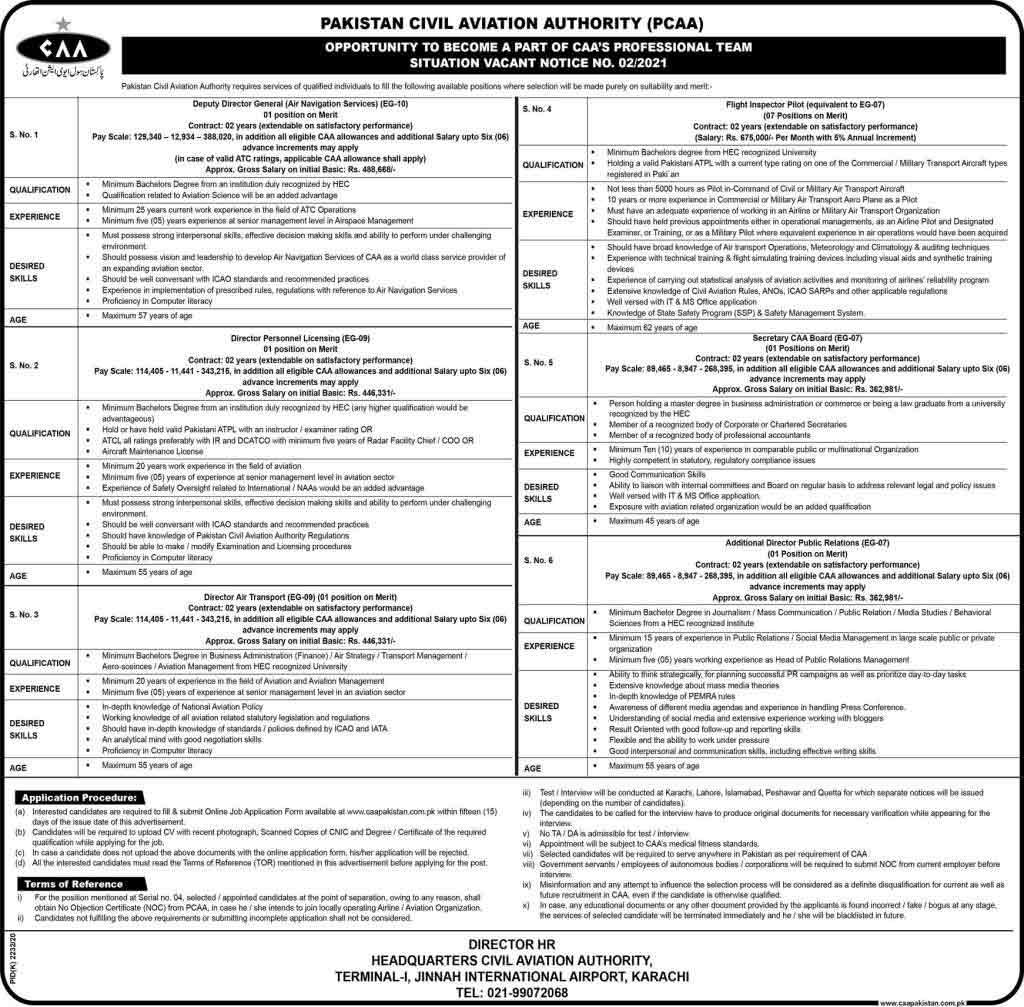 Pakistan-Civil-Aviation-Authority-Jobs-2021