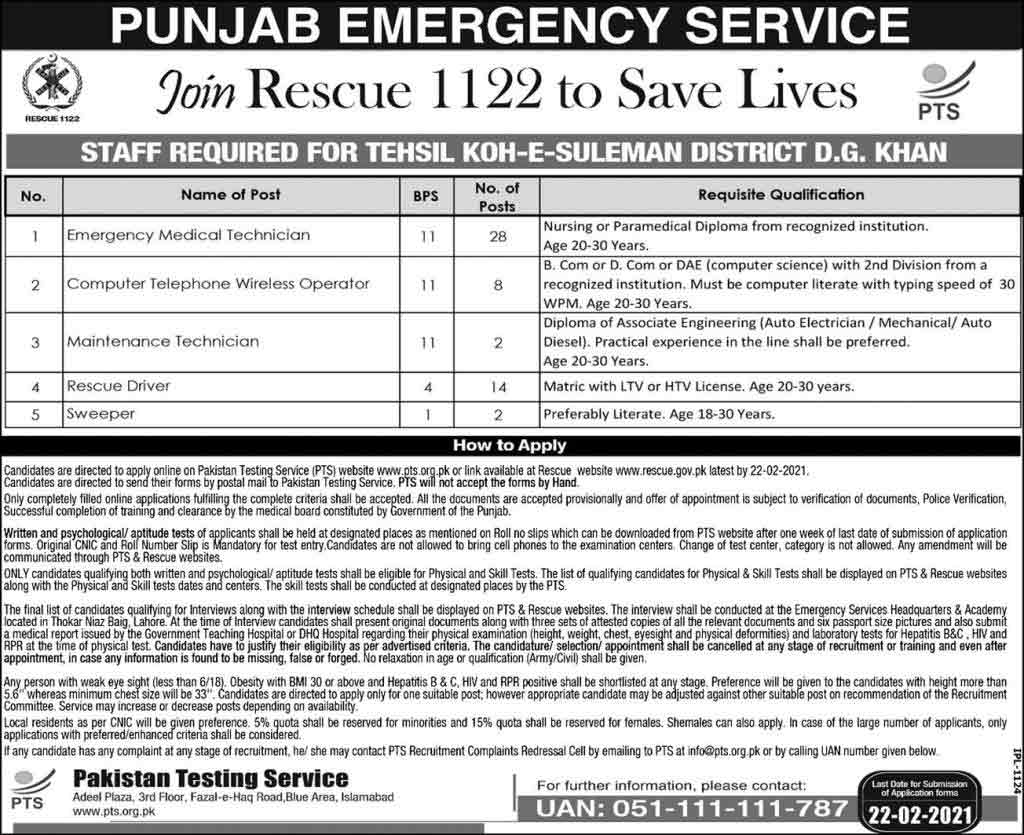 Punjab-Rescue-1122-Jobs-2021
