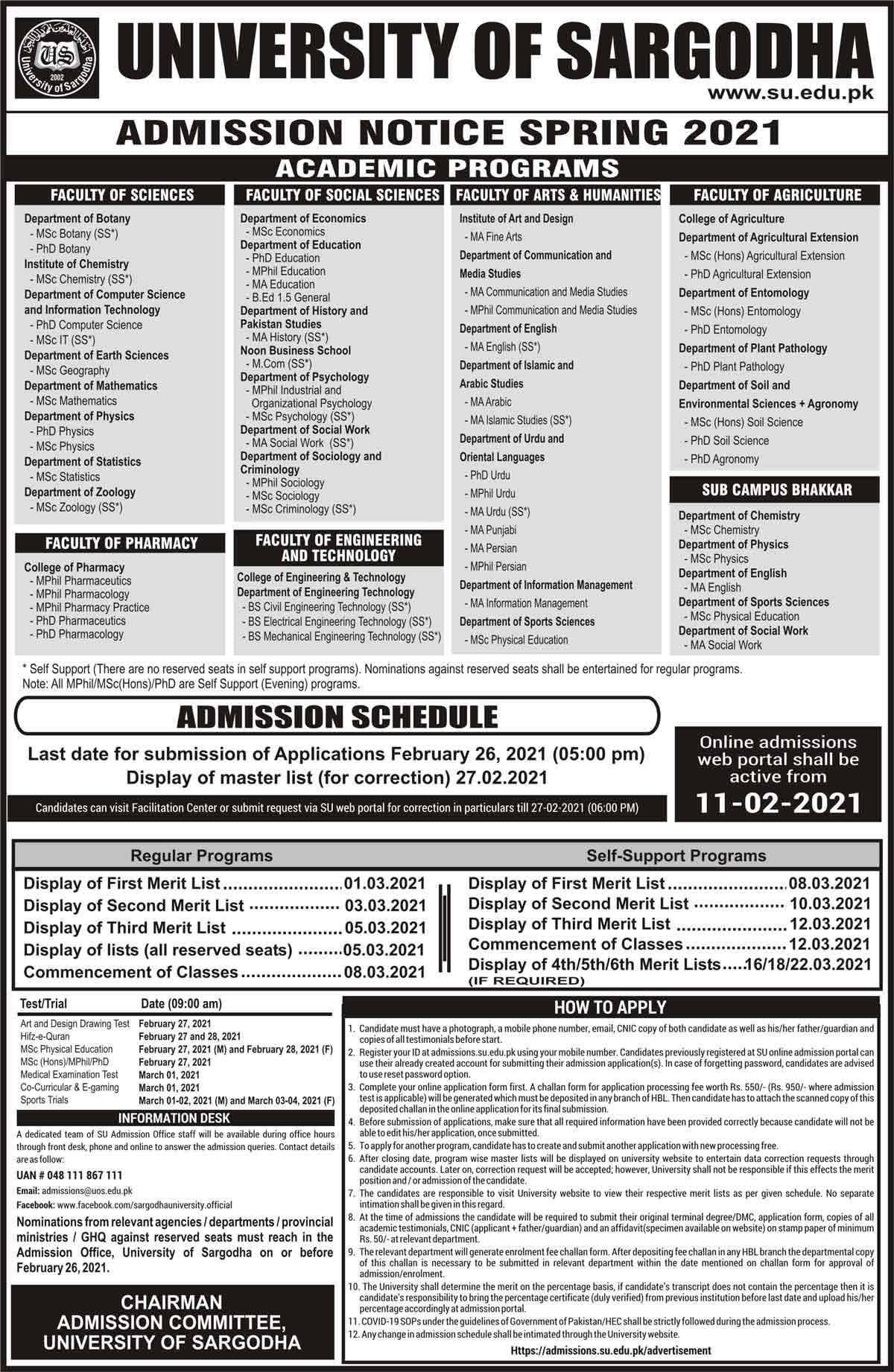 University-of-Sargodha-Admission-Merit-List-2021