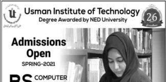 Usman-Institute-of-Technology-Karachi-Admission-2021