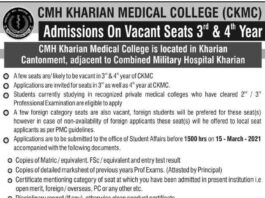 CMH-Medical-College-Kharian-Admission-2021