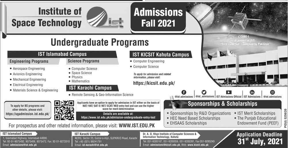 Institute-of-Space-Technology-Admission-2021
