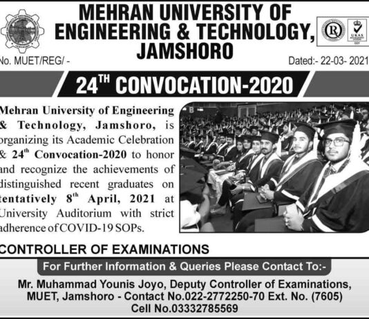 Mehran-UET-Jamshoro-Convocation-2021