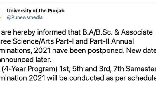 PU-Lahore-Exams-BA-BSC-2021