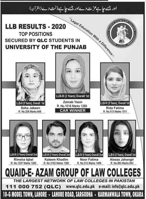 Quaid-e-Azam-Law-College-Admissions-2021