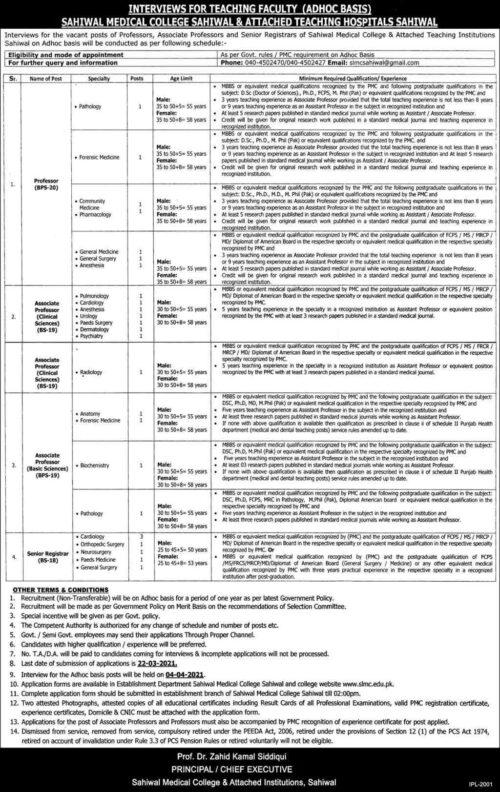 Sahiwal-Medical-College-Jobs-2021