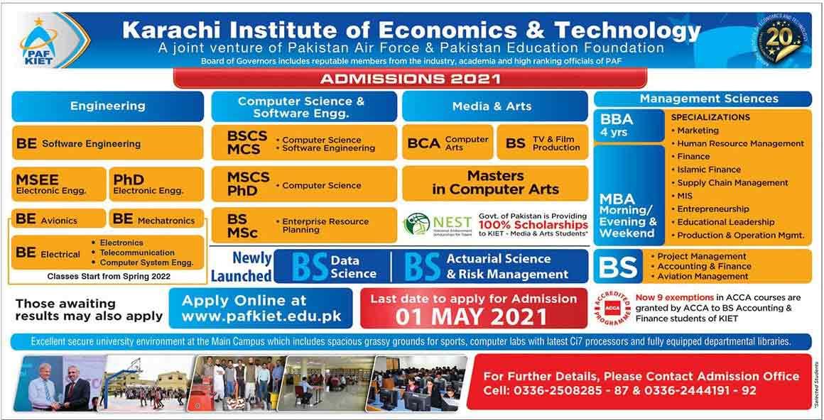 PAF-KIET-Admissions-2021