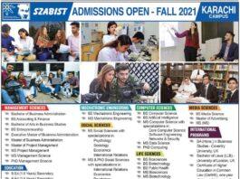 SZABIST-Karachi-Admission-2021