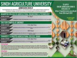 Sindh-Agriculture-University-Karachi-Admissions-2021