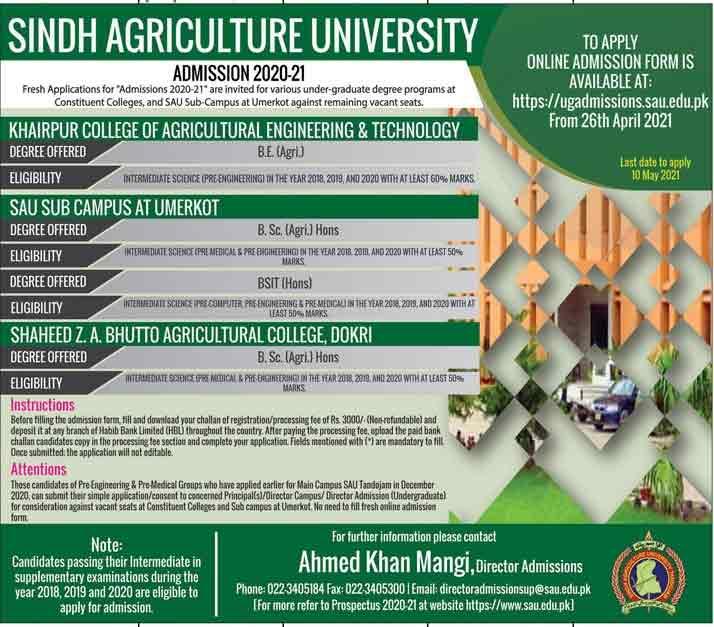 Sindh-Agriculture-University-Karachi-Admissions-2021