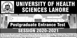 University-of-Health-Sciences-Postgraduate-Admissions-2021