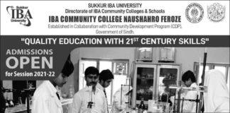 IBA-Community-College-Naushahro-Feroze-Admission-2021