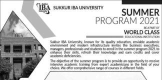 IBA-Sukkur-University-Summer-Program-2021
