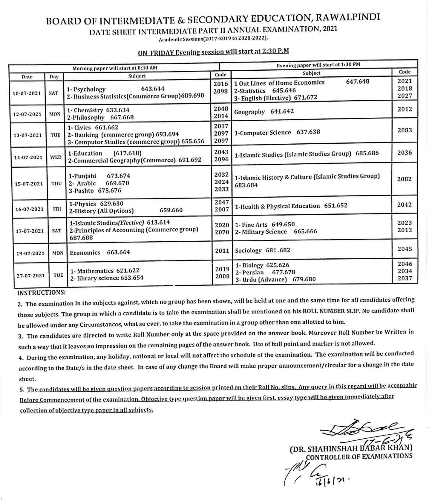 Bise-Rawalpindi-12th-Class-Date-Sheet-2021