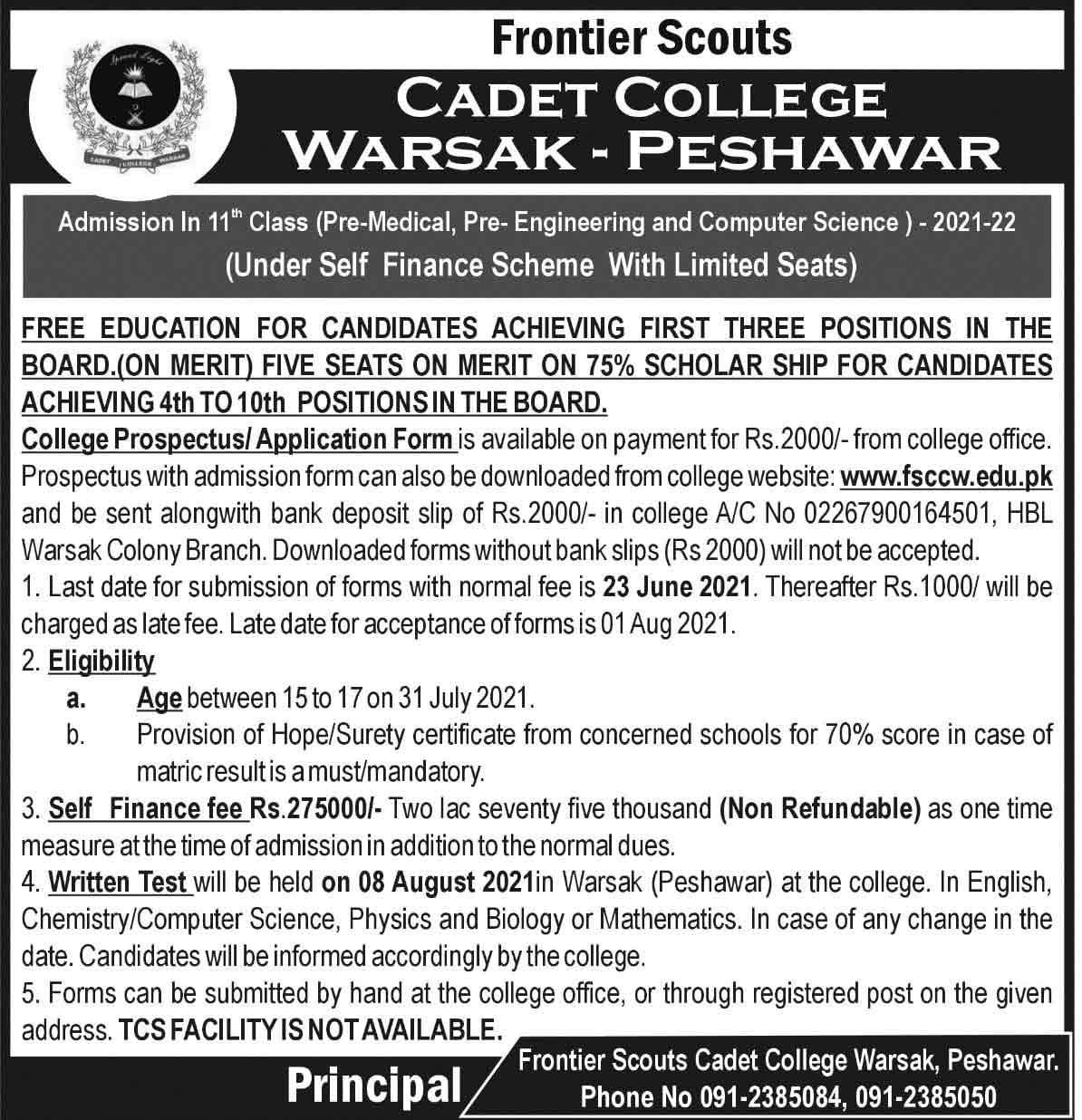 Cadet-College-Warsak-Peshawar-Admission-2021