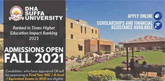 Dha-Suffa-University-Karachi-Admissions-2021