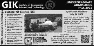 GIKI-Institute-Undergraduate-Admissions-2021