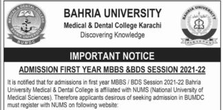 BUMDC-Karachi-Admission-2021